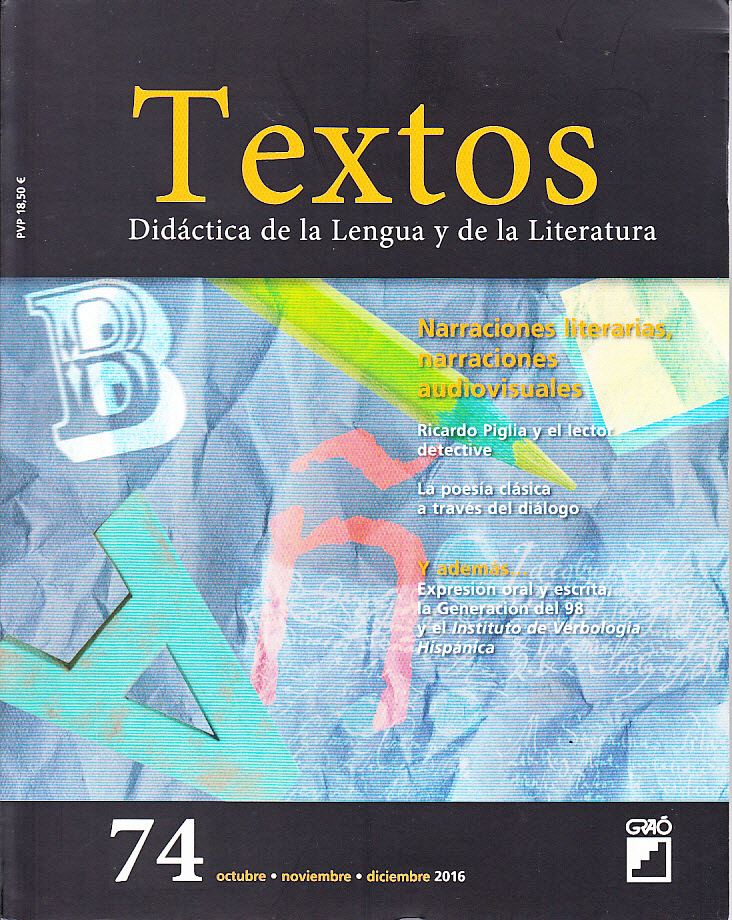 Revista Textos Narraciones literarias audiovisuales